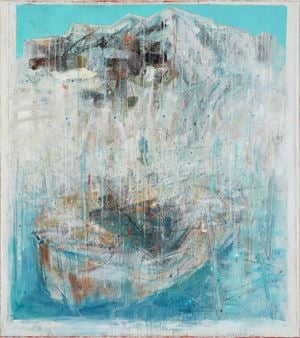 La barca è vuota by Cesare Lucchini contemporary artwork