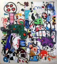 Easter eggs by Taher Jaoui contemporary artwork painting, works on paper, drawing