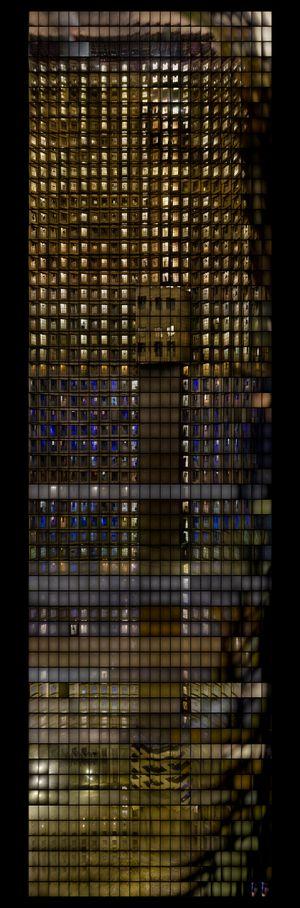 Interior Windows, Ponte City, Johannesburg, 2008 -2010 (Light Box) by Mikhael Subotzky and Patrick Waterhouse contemporary artwork sculpture