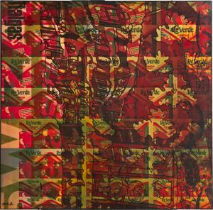 Reverde by Mimmo Rotella contemporary artwork painting, mixed media