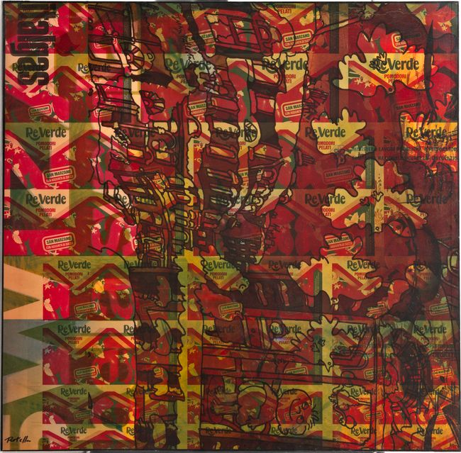 Reverde by Mimmo Rotella contemporary artwork