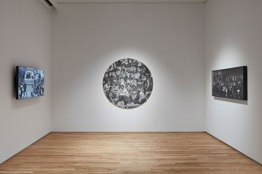 Exhibition view: JR,The Chronicles of San Francisco – Sketches,Pace Gallery, Palo Alto (6 February–24 March 2019). Courtesy Pace Gallery.