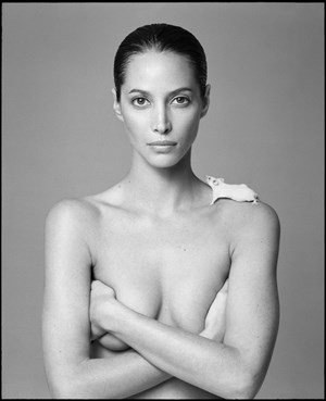 Christy and Mouse by Patrick Demarchelier contemporary artwork
