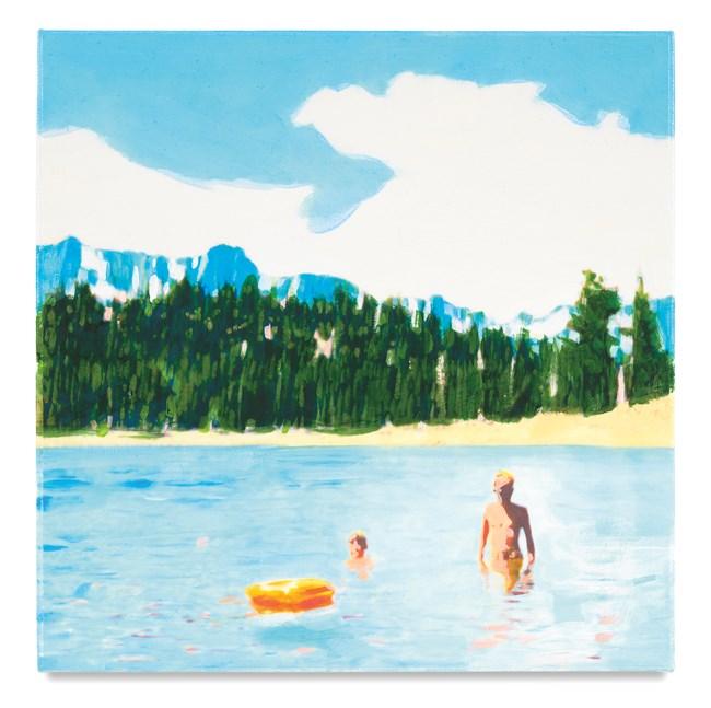 Orange Raft by Isca Greenfield-Sanders contemporary artwork