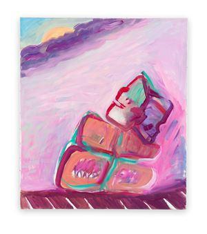 Januskopf / Tag- und Nachtgedanken (Janus Head /Daytime and Nighttime Thoughts) by Maria Lassnig contemporary artwork