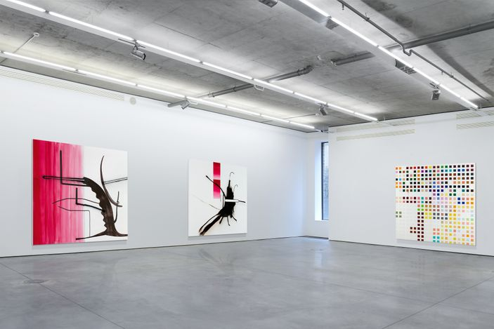 Exhibition view:Albert Oehlen,Online Exhibition., Gary Tatintsian Gallery (23 April–31 May 2021). Courtesy Gary Tatintsian Gallery.
