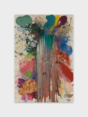 Pruniers fleuris by John M Armleder contemporary artwork
