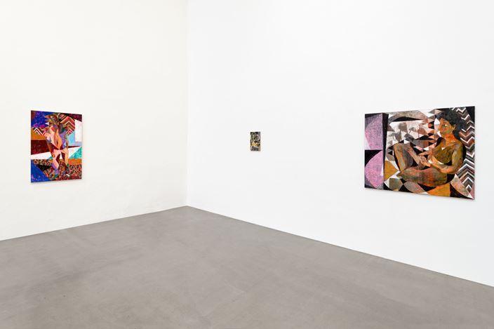 Exhibition view: Tom Anholt,Vom Leben,Galerie EIGEN + ART Leipzig (6 April–11 May 2019). Galerie EIGEN + ART Leipzig. Photo: Uwe Walter.