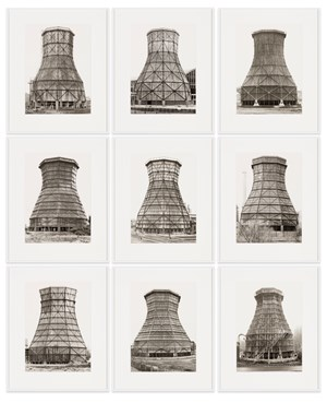Cooling Towers by Bernd & Hilla Becher contemporary artwork