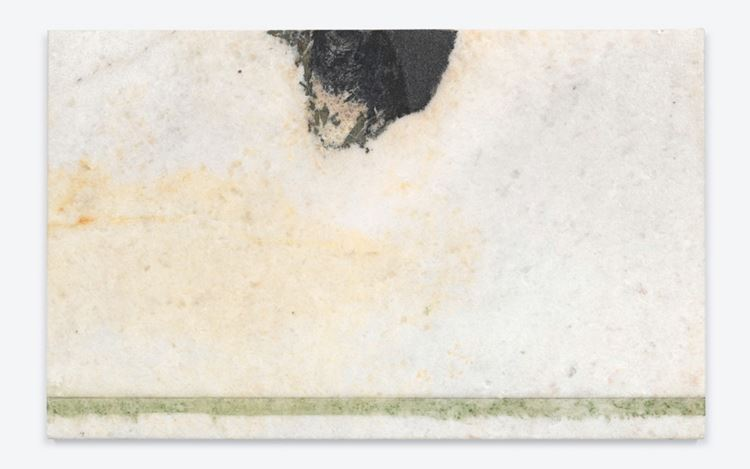 Brice Marden, Helen's Immediately (2011) (detail). Oil on marble. 49.5 x 80 x 2.1 cm. © 2020 Brice Marden/Artists Rights Society (ARS), New York. Courtesy Gagosian.
