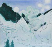 Hinterglem-3 (Vienna Studies) 《欣特格蘭之三(維也納習作)》 by Emily Cheng contemporary artwork painting