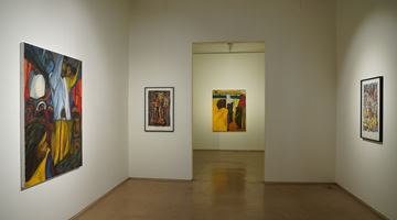 Contemporary art exhibition, Aban Raza, Luggage, People and a little space at Galerie Mirchandani + Steinruecke, Mumbai, India