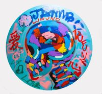 Graffiti Skull by Bradley Theodore contemporary artwork painting