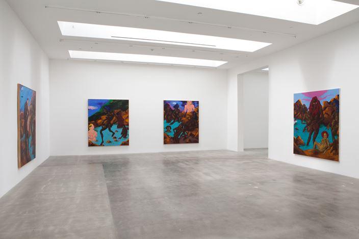 Exhibition view: Robert Colescott, Blum & Poe, Los Angeles (10 March—April 28 2018).Courtesy Blum & Poe.