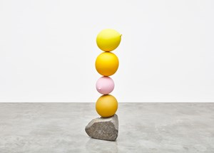 Untitled (Short People) Yellow, Yellow, Pink, Yellow by Gimhongsok contemporary artwork