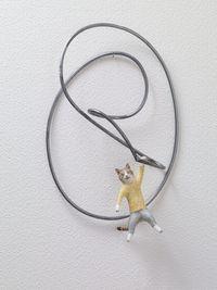Hang down, Cat by Kaori Yoshikawa contemporary artwork mixed media