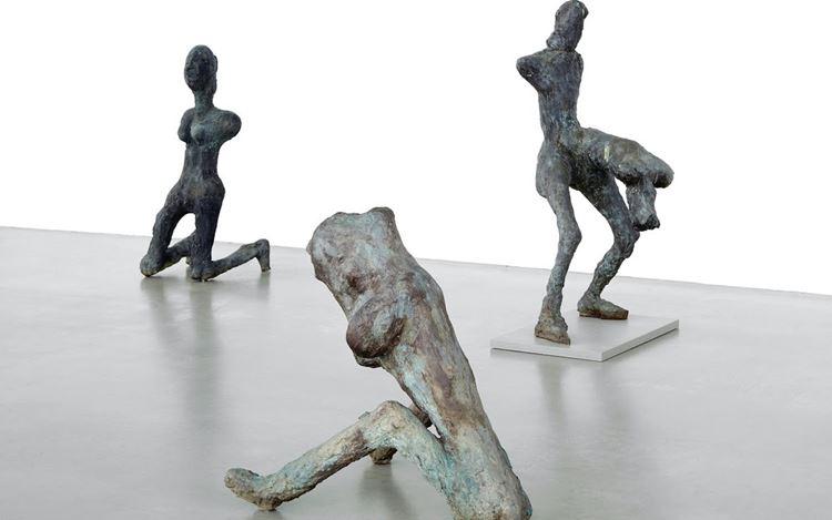 Exhibition view: Martin Disler, Häutung und Tanz / The Shedding of Skin and Dance, Skulpturenpark Waldfrieden Wuppertal. Courtesy Buchmann Galerie.