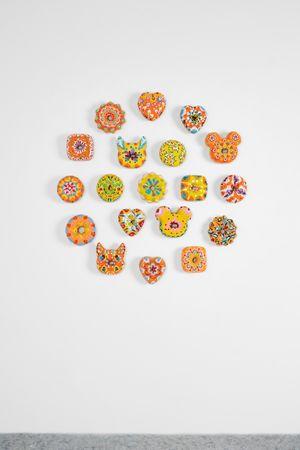 Donuts Love Yellow Set by Jae Yong Kim contemporary artwork sculpture