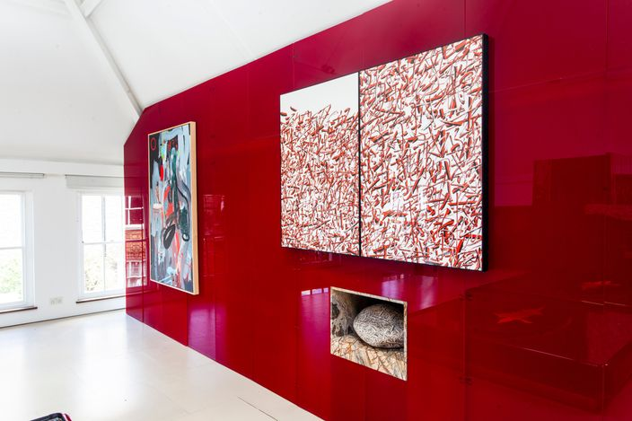 Exhibition view: Group exhibition, Colour Provokes a Psychic Vibration,HdM GALLERY, London (25 May–27 June 2021). Courtesy HdM GALLERY..