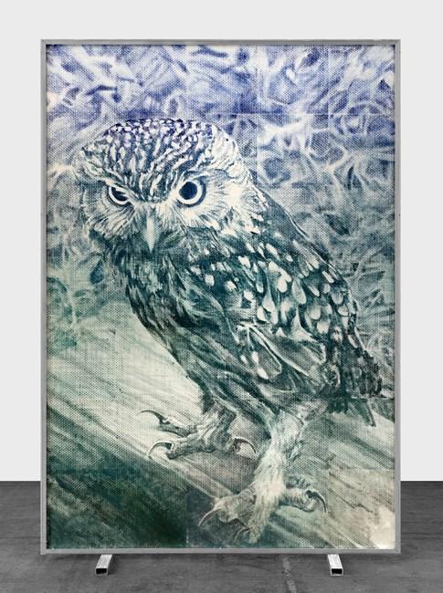 "Athéna ""Fuck Anthropocène"" by Marcel Berlanger contemporary artwork"