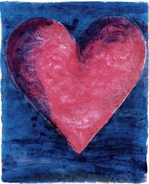 A Heart on the Rue de Grenelle by Jim Dine contemporary artwork print