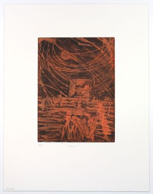 Untitled (Orange) by Sidney Nolan contemporary artwork