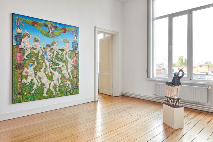 Exhibition view: Tom Poelmans, BALLROOM PROJECT #3, Borgerhub, Antwerp (13–26 May 2021). Courtesy rodolphe janssen. Photo:We Document Art.
