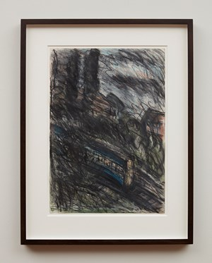 Train by Night No.1 by Leon Kossoff contemporary artwork