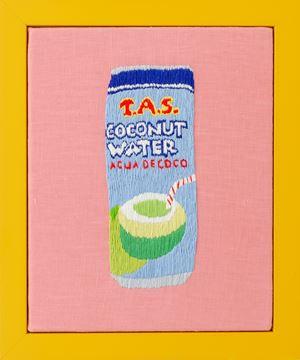 Coconut Water by Erica van Zon contemporary artwork textile