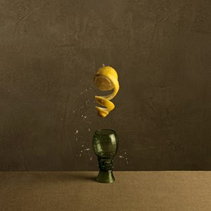Food Portraits - Citrus and Glass by Marie Cecile Thijs contemporary artwork