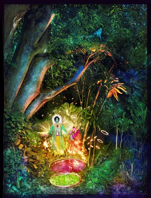 Jesus and Buddha Under a Tree by David LaChapelle contemporary artwork