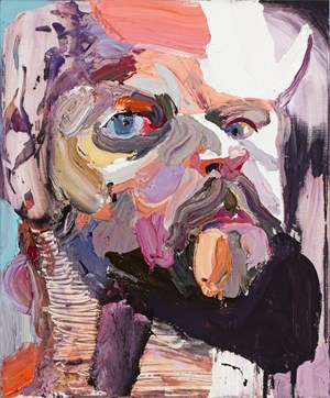 Self Portrait with mirror No. 2 by Ben Quilty contemporary artwork