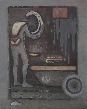 Kafka in the Bathroom No.1 by Ji Lei contemporary artwork