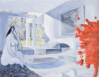 Jules and Victorine Hotel by Alun Williams contemporary artwork painting