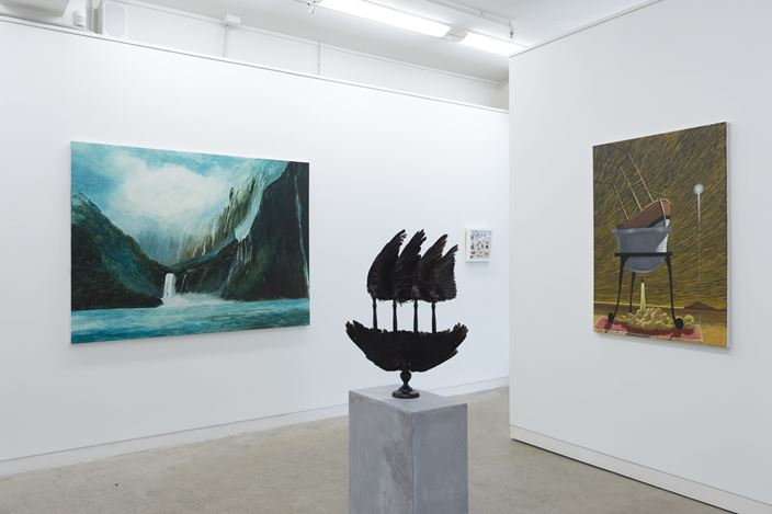 Exhibition view:Beyond Kāpene Kuku / Captain Cook, Page Blackie Gallery, Wellington (1–31 August 2019). Courtesy Page Blackie Gallery.