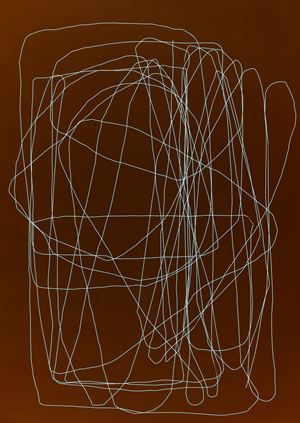 Blaue Ordnung by Frank Mädler contemporary artwork