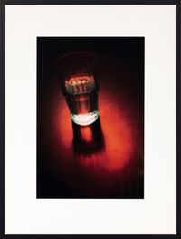 A glass at three-fourteen (in profile) by Michael Mahne Lamb contemporary artwork photography