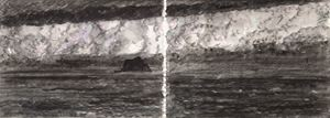 Keelung Islet under Twilight by Chuan-Chu Lin contemporary artwork