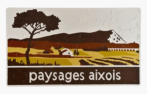 Paysages aixois by Bertrand Lavier contemporary artwork