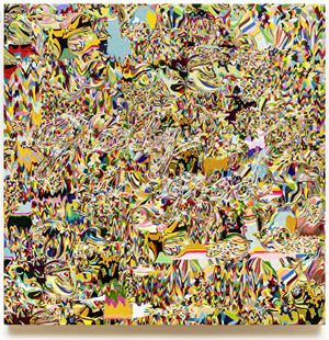 Needling Whisper, Needle Country / SMS Series in Camouflage / Greedy is good K01-01-01 by Kyungah Ham contemporary artwork