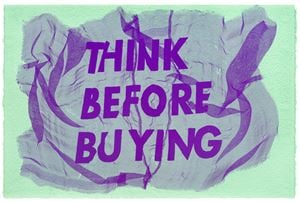 Think Before Buying by Raul Walch contemporary artwork painting
