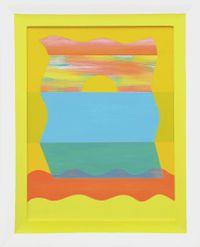 Untitled (sun-sea) by Saskia Leek contemporary artwork painting