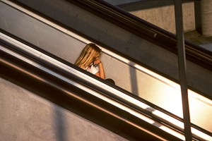 Girl on stairs, Los Angeles by Willy Spiller contemporary artwork