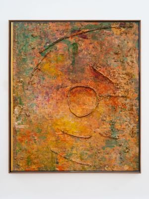 Sand Circle by Frank Bowling contemporary artwork