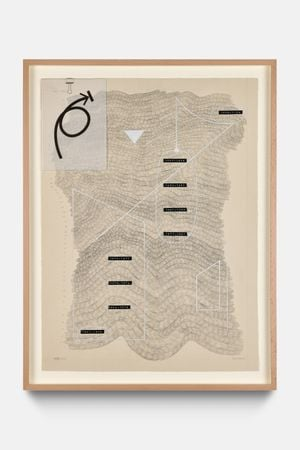 not here by Nolan Oswald Dennis contemporary artwork painting, works on paper, drawing