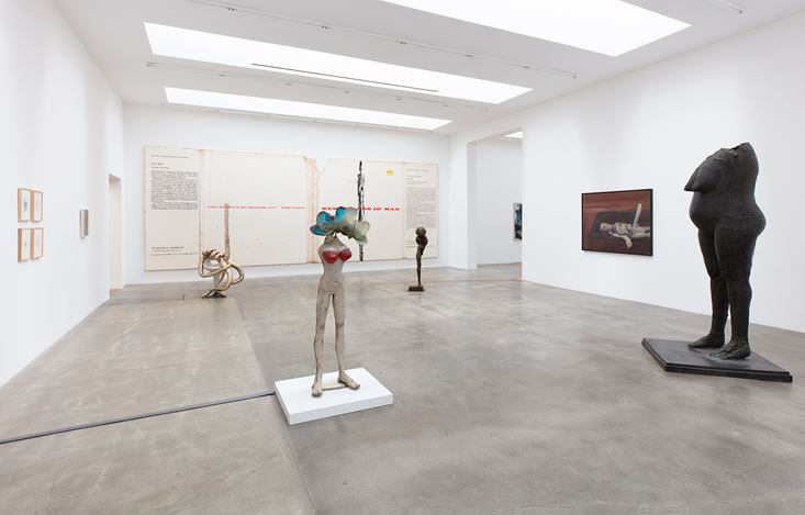 Exhibition view: Group Exhibition, New Images of Man, curated by Alison M. Gingeras, Blum & Poe, Los Angeles (1 February–14 March 2020). Courtesy the artists or Estates and Blum & Poe, Los Angeles/New York/Tokyo. Photo: Makenzie Goodman.
