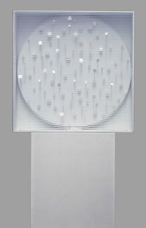 Weißer Rotor mit weißen Punkten by Heinz Mack contemporary artwork