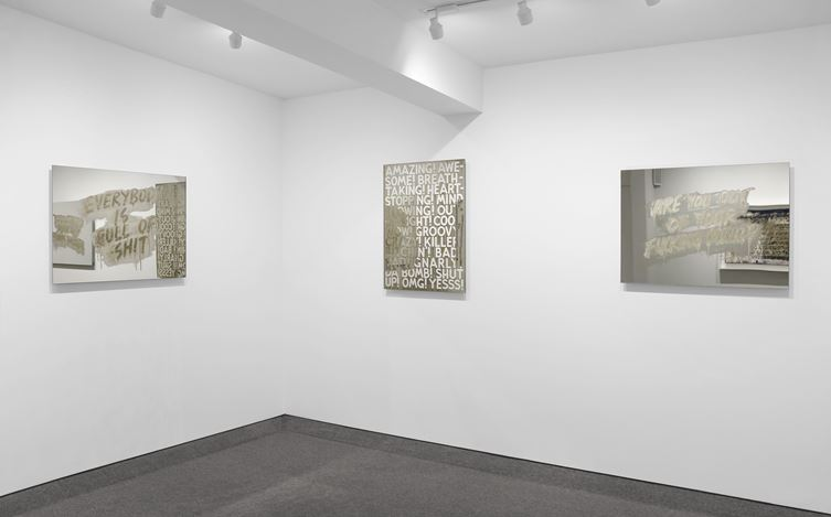 Exhibition view: Mel Bochner, Mirror Works, Krakow Witkin Gallery, Boston (11 May–15 June 2019). Courtesy Krakow Witkin Gallery.