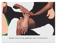 Maybe That is The Simplest Way... by John Baldessari contemporary artwork painting