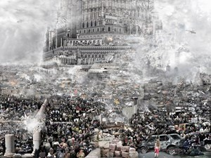 The Tower of Babel—The Crusades by Du Zhenjun contemporary artwork